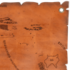 Leather Map of Middle Earth
