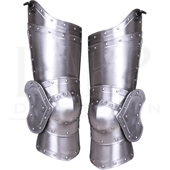Medieval Epic Armor Steel Greaves Leg Guard With Shoes
