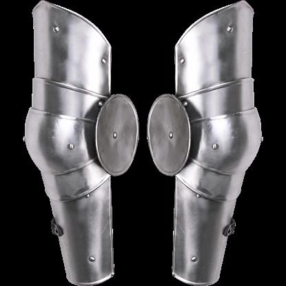Steel Gustav Full Arm Guards