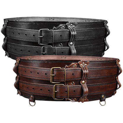 Luthor Leather Double Belt