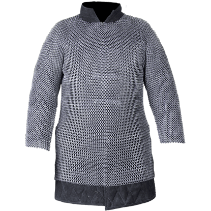 Berengar Long Sleeve Oiled Chainmail Hauberk