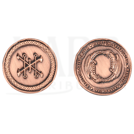 Set of 10 Copper Dragon LARP Coins
