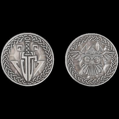 Set of 10 Silver Viking LARP Coins