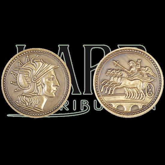 Set of 10 Gold Roman LARP Coins
