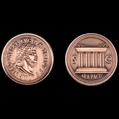 Set of 10 Copper Roman LARP Coins