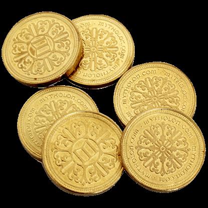 Set of 10 Gold LARP Coins