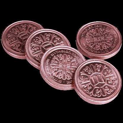 Set of 10 Copper LARP Coins