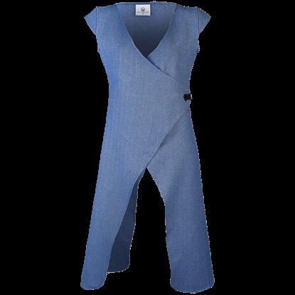 Vysera Herringbone Long Vest