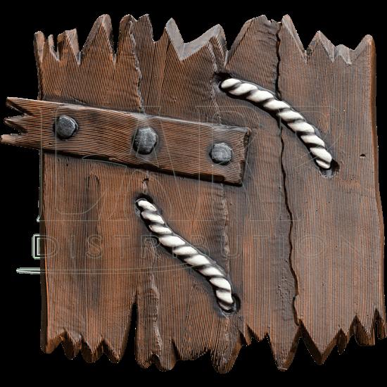 Woodgrain LARP Ork Shield