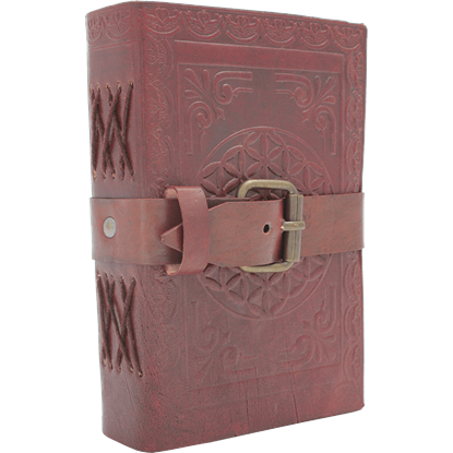 Small Buckled Leather Diary