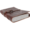 Large Buckled Leather Diary