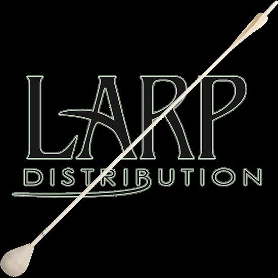White Glow-in-the-Dark LARP Arrow - Round Tip