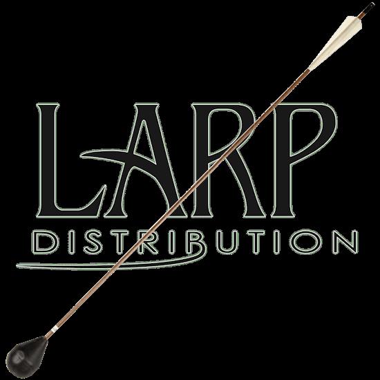 Brown Glow-in-the-Dark LARP Arrow - Round Tip