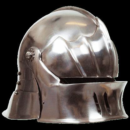 Gothic Sallet Helmet - Steel Finish