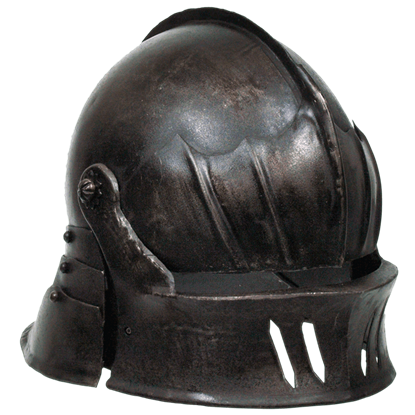 Gothic Sallet Helmet - Dark Metal Finish