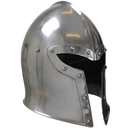 Steel Barbuta Helmet