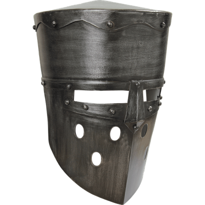 Crusader Helmet - Dark Metal Finish