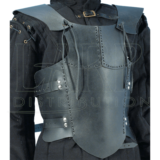 Childs Black Leather Body Armour