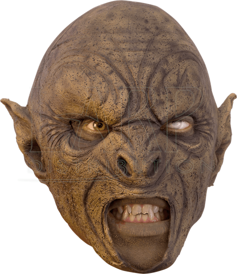 Brown Carnal Orc Mask