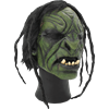 Green Brutal Orc Mask with Hair