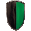 Ready For Battle LARP Green and Black Kite Shield