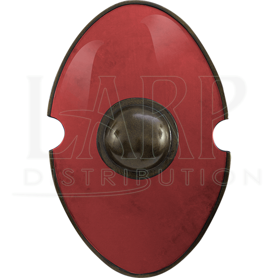 Red Elliptical LARP Shield