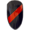 Red and Black Striped RFB Large LARP Shield