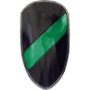Green and Black Striped RFB Large LARP Shield