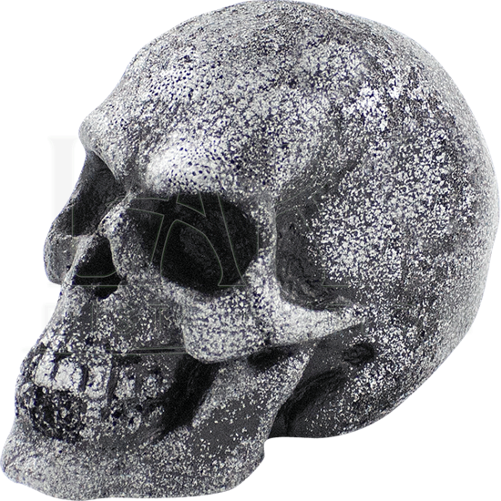Small Steel LARP Throwing Skull