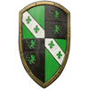 Green Lion LARP Shield