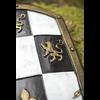 White Checkered LARP Shield