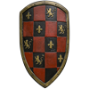 Red Checkered LARP Shield