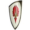 Red and White LARP Elven Shield