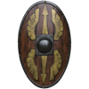 Roman LARP Woodgrain Scutum Shield
