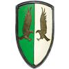 Green and White LARP Eagle Shield