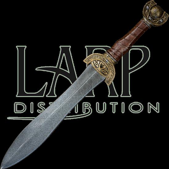Celtic Leaf Short LARP Sword