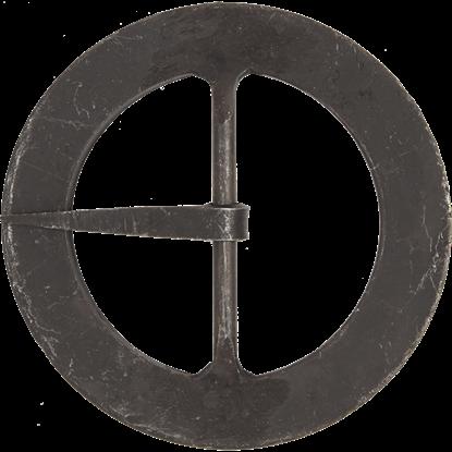 Hand-Forged Black Round Buckle