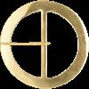 Round Brass Belt Buckle - 3 Inch