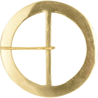 Round Brass Belt Buckle - 3 Inch