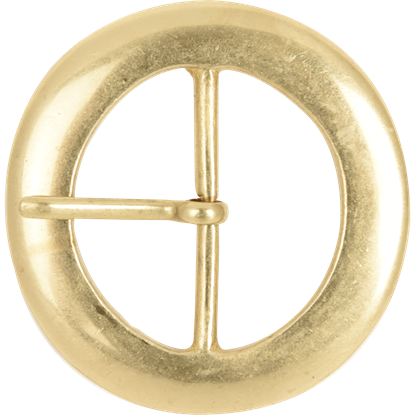Round Brass Belt Buckle - 2 Inch