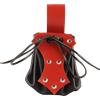 Medieval Belt Pouch with Red Trim