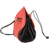 Leather Medieval Purse with Red Trim