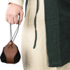 Leather Medieval Purse with Brown Trim
