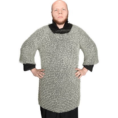 Round Riveted Chainmail Haubergeon