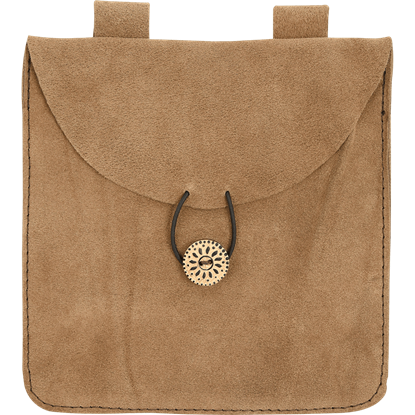 Large Brown Suede Pouch