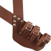 Triple Buckle Brown Leather Baldric
