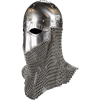 Viking Helmet with Aventail - 16 Gauge