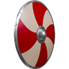 Viking Warriors Shield - Red and Cream