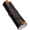 Black Rolled Leather Journal