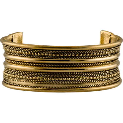 Brass Viking Cuff Bracelet - Small